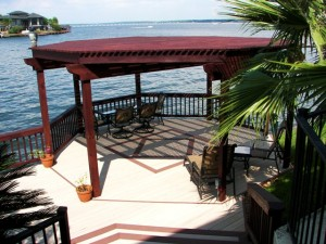 composite dock w shade arbor